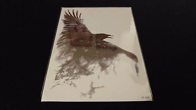 Gothic Series Black Crow Raven Bird TEMPORARY HENNA TATTOO Waterproof Transfer