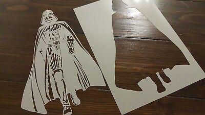 Star Wars Inspired villain Darth Vader Reusable Mylar Airbrush Paint Stencil ()