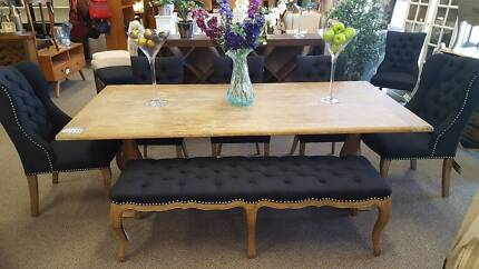 Dining package in Black Linen fabric-  PerFurEmp