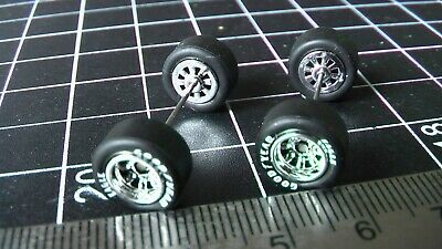 Small Toy Cars (HOT WHEELS RUBBER TIRES FOR CUSTOM CARS 8 SPOKE CHROME GOODYEAR)