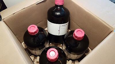 4 Flasche Reinstwasserflasche Leer Glasflasche 2,5 Liter Sammelbehälter Münzen