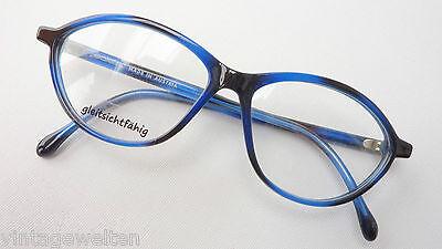 Brille Kunststoffbrille Damenfassung occhiali günstig blau-schwarz Grösse M