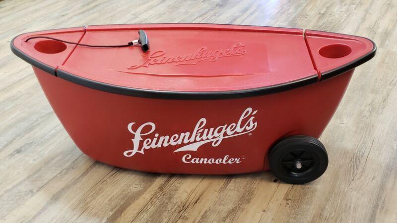 "Leinenkugel's Canoe Beer Cooler ""Canooler"" Wheeled Drink Ice Chest (36"" Long)"