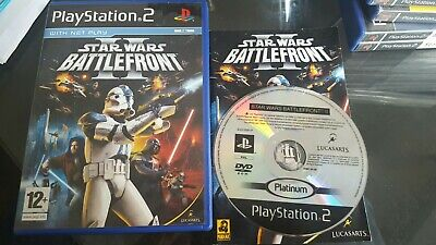 SONY PS2 GAME STAR WARS BATTLEFRONT II PLAYSTATION 2 COMPLETE. FREEPOST JEDI