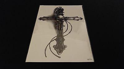 Gothic Tattoos (Gothic Series Big Cross Chain Skull TEMPORARY HENNA TATTOO Waterproof)
