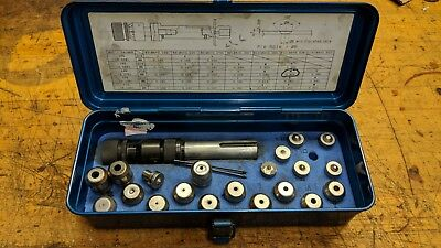 Punch Press Dimple Die Assortment And Holder Set 100 Degree Set 2