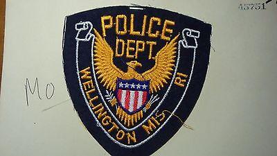 WELLINGTON MISSOURI   POLICE DEPARTMENT SALESMAN COPY OBSOLETE PATCH BXSP#395