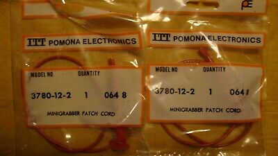 Pomona 3780-12-2 Mini Grabber Patch Cord 12 Qty. 2 Red Cords