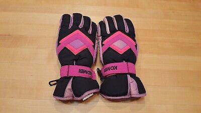 WOMENS KOMBI SKI GLOVES SIZE MEDIUM WATERGUARD PINK & BLACK PRE OWNED GREAT DEAL Pink Ski Gloves