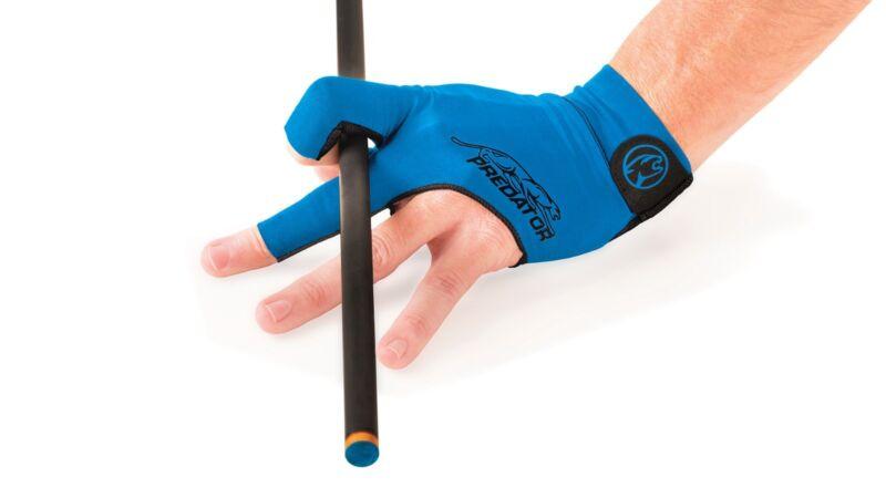 BLUE PREDATOR GLOVE SMALL / MEDIUM SECOND SKIN POOL CUE GLOVE  - FITS LEFT HAND