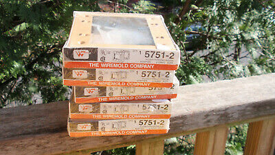 Lot Of 5 Packs The Wiremold Co. Electrical Supply 2 Gang 5751-2 Flush Type