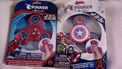 Avengers Spinners Lot of four Hulk, Iron Man, Captain America & Spiderman