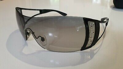 Genuine Versace Ladies Sunglasses Model 2058-B Swarovski Crystals