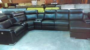 CORNER MODULAR WITH ELECTRIC RECLINER 2 CONSOLES AND RH CHAISE Thebarton West Torrens Area Preview