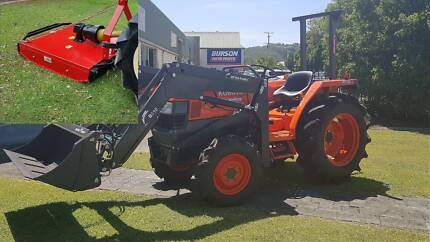 Kubota Tractor, 35HP with 4 in 1 loader and new slasher 2 ONLY. Currumbin Waters Gold Coast South Preview