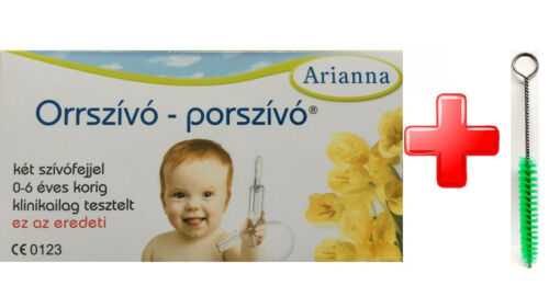 Baby Vac Nasal Aspirator nose vacuum by Arianna safe for toddlers and infants