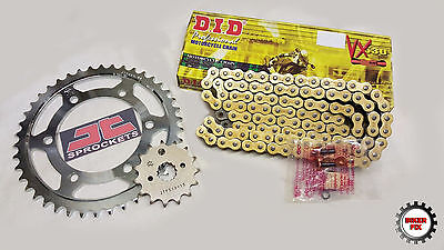 Honda CBR1100XX Blackbird DID Gold X-Ring Chain & JT Sprockets Kit Set