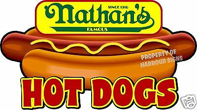 Nathans Hot Dogs 14 Hotdogs Restaurant Concession Food Truck Vinyl Sticker
