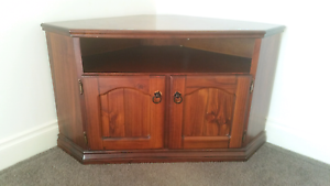 Corner TV unit - stained Warragul Baw Baw Area Preview