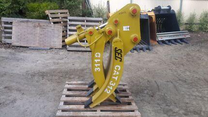 Excavator 12 Tonne Hydraulic Grab Grapple Five Finger 65 pin Littlehampton Mount Barker Area Preview