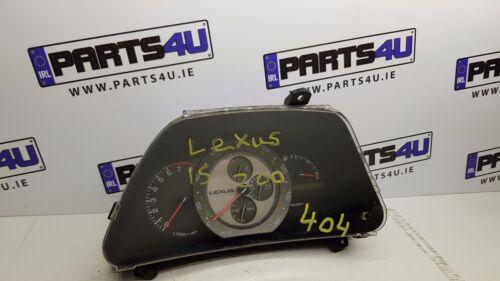 LEXUS IS200 SPEEDOMETER INSTRUMENT CLUSTER SPEEDO CLOCKS MPH 83800-53060GA