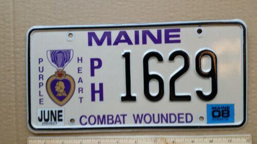License Plate, Maine, Purple Heart, 1629