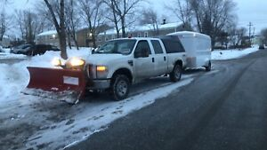 2008 Ford F-250 with plow