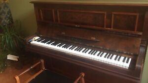 Piano- walnut finish