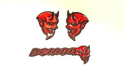 3X Challenger Charger Red B Fender Deck Lid Emblem Badge Demon Hellcat For Dodge