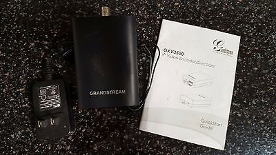 Grandstream IP Video Encoder Decoder Stream Analog Video PA System POE GXV3500