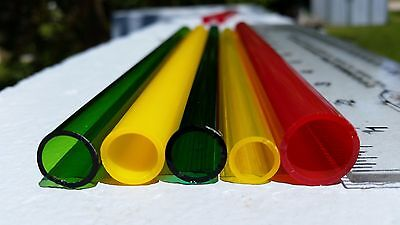 Soft Glass Tubing,10/12/15mm,5 Color,Lampwork,Glassblowing,Steampunk,Neon,Crafts