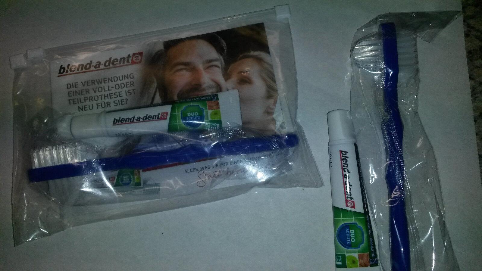 blend-a-dent Duo Schutz Prothesenhaftcreme 10g, Reiseset, Oral-B Prothesenbürste