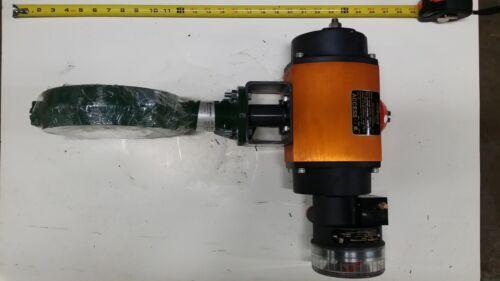 "Cameron 6"" Inline Butterfly Valve J022124-1216359 w/Flowserve Pneumatic Actuator"