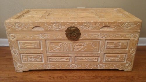 Chinese Camphor Chest.  (Hand Made Hand Carved)