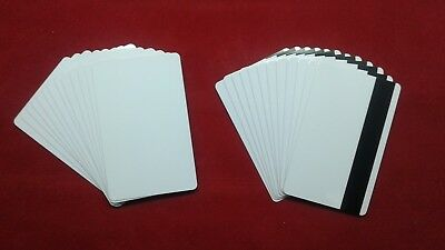 - 50 Blank White PVC Cards CR80 30 mil 3Track Hico Magnetic Stripe thermal print
