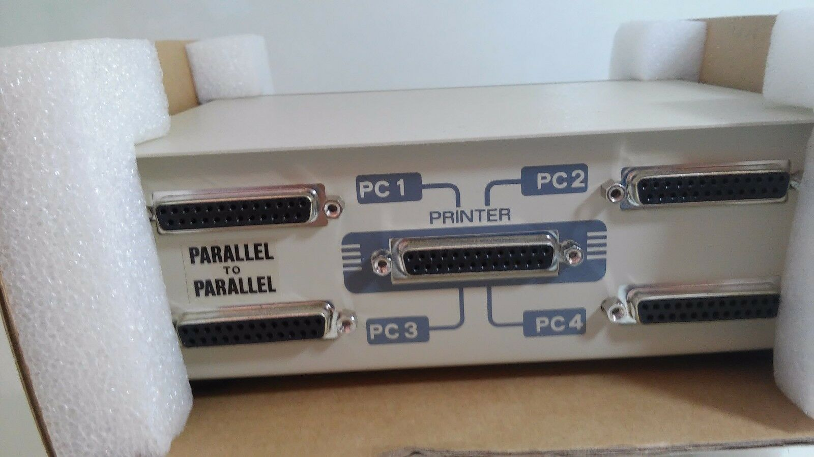 AMP4-1 New DCOM Auto Data Switch Parallel 4-1 Printer 4 Port Model