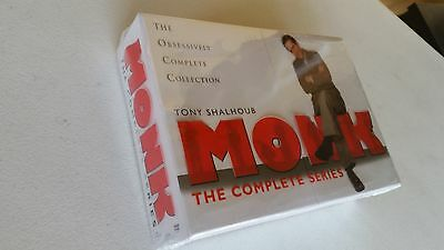 MONK THE COMPLETE SERIES: DVD 32 DISC BOX SET, FREE SHIPPING, NEW.