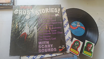 famous ghost stories 1975 halloween LP mr. pickwick scary sounds w/2 stickers!! - Famous Halloween Stories
