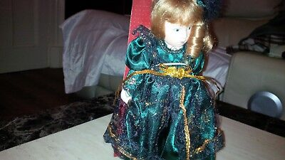 Porcelain Handmade doll UK FREE POST with movable body & outfit Articles BNB