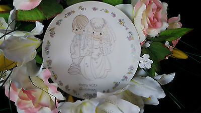MINT Precious Moments 1988 Happy 40th Anniversary Collector Plate–finalstopshop
