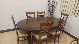 Dining Table + 6 chairs Wentworthville Parramatta Area Preview