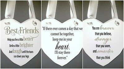 Best Friends Friendship Wall Plaque Sign Gift Personalized Ribbon In Your