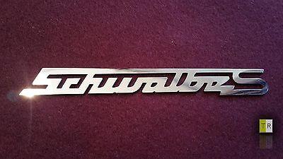EDELSTAHL Simson Schwalbe S Schriftzug - Emblem - Logo poliert für Schwalbe KR51
