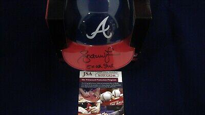 Andruw Jones Signed ATLANTA BRAVES Mini Batting Helmet W/5x all star - JSA -