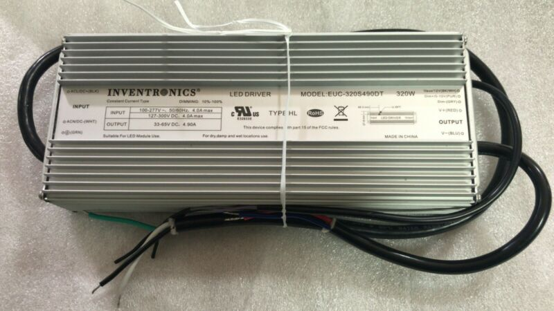 New Inventronics EUC-320S490DT Power Supply Driver Outdoor 320W 4900mA Dimming