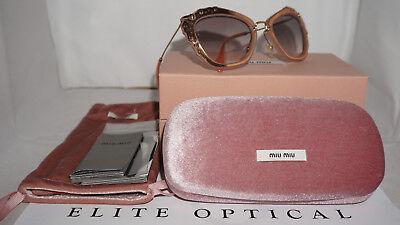 MIU MIU Sunglasses New Matte Pink Grey Gradation MU04QS TV14K0 55 140