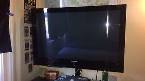 "42"" Samsung Plasma Flat Screen W/ Tv Stand"