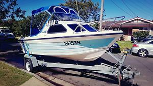 16ft half cabin fibreglass fishing boat Strathfield Strathfield Area Preview