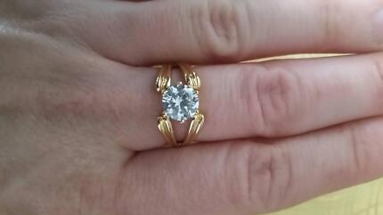 14kt Gold CZ Ring