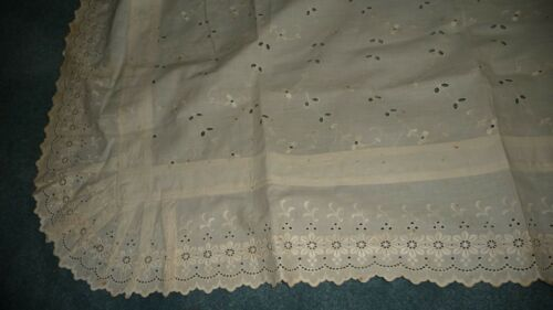 "#87FF antique  PILLOW SHAM 88"" L X 42 W   EYELET"